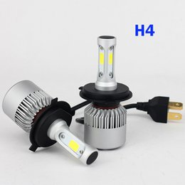 Wholesale H13 Hi Lo - 2 PCS LED Car Headlight Bulb Hi-Lo Beam COB Headlights 72W 8000LM 6500K Auto Headlamp 12v 24v H4 H7 H8 H13 9005 9006