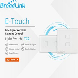 Wholesale Android Remote Control Switch - Wholesale-US UK EU Standard Broadlink TC2 2 gang,Smart Home Automation,WiFi Remote Control Touch Wall Switch, APP Timer by Android and iOS