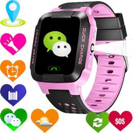 Wholesale Child Gps Gsm Watch - 2017 Smart Baby Watch Children Kids Y21 GSM GPRS GPS Locator Tracker Anti-Lost SOS wechat Dial Call Smartwatch Child Guard alarm