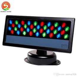 Wholesale Led Wall Washers Outdoor - 36Pcs*3W LED Wall Washer Waterproof LED Floodlight RGB Stage Light Outdoor Light Par lighting LED Wash light Effect lamp