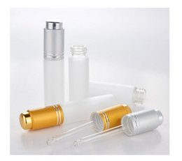 Wholesale Glass Liquid Ring - 2017 New 20ml Empty Glass Dropper Bottles Eye Liquid Dropper Sample,essential oil container with matte silver ring