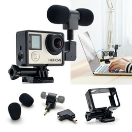 Wholesale Hero Adapter - 3.5 mm MIC Adapter Stereo Microphone accessories with Standard Frame for GoPro Hero 3 3+ 4