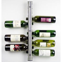 Wholesale Wine Rack 12 - Stainless Steel Bar Wine Rack Wine Shelf Wall Mounted wine Holder 12 Bottles holder Free shipping