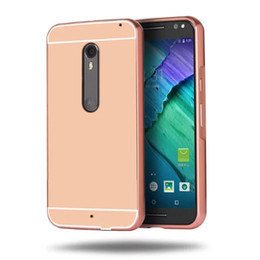 Wholesale Moto X Case Pc - for Google Pixel Nexus 6P nexus 5X MOTO G5 G3 G4 G4 PLUS X Style X FORCE Z PLAY Mirror Luxury Metal Aluminum Bumper Frame PC Back Cover 50P