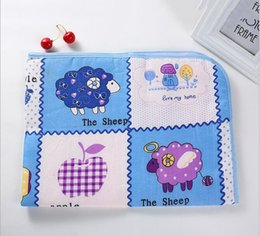 Wholesale Waterproof Cotton Sheet - New cotton baby infant waterproof pad bed sheets changing mat newborn urine pad