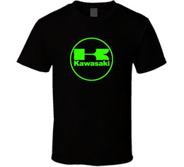 Wholesale Best Kawasaki - 100% Cotton Summer T Shirt O-Neck Men Short Sleeve Best Friend Kawasaki Team Green Ninja Motorcycler Racinger Team Shirts