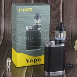 Wholesale Electronic Cigarette Pen Mod - Electronic Cigarette Mechanical Mods P Box 50W Vape Pen Starter Kits with 18650 Battery Cell Sub .3ohm 2ml Tank VS eleaf pico istick