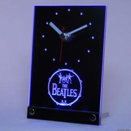 Wholesale Beatles Plastic - Wholesale-tnc0145 The Beatles Table Desk 3D LED Clock