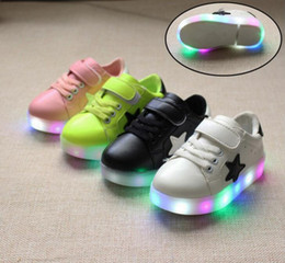 Wholesale Led Lights For Lawns - Children shoes with light 2017 Spring NEW boys girls shoes Baby led Kids fashion breathable boys sneakers EUR 21-30 For Child
