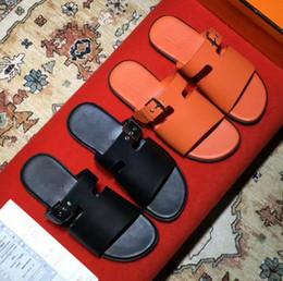 Wholesale Mens Fisherman Sandals - New Arrival Summer Mens beach Slippers Fashion Luxury brand 100% Genuine Leather Man Flip flops sandals