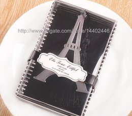 Wholesale Bookmark Tower - 100pcs With Love Eiffel Tower Bookmark Silver Stainless Steel Bookmarks Tassels With Retail box Wedding Party Filler Gift Favours