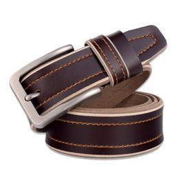 Salida de las correas online-Al por mayor-Factory Outlet Brand Design Belt Nueva moda de alta calidad Male Waistband Cinturones de los hombres correa de cuero genuino hombres correa Pin hebilla