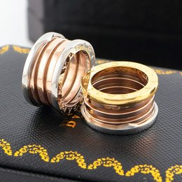 Wholesale Steel Stamp Set - Have Stamp Brand New style Jewelry silver rose 18k gold 316L stainless steel ring Luxury wedding ring for Men women Gift size 5,6,7,8,9,10