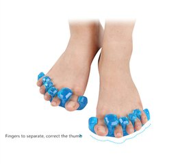Wholesale Massaging Tools - 2017 Correction orthopedic Fashion Gel Toe Stretcher Separator Reduces Foot Pain Yoga Health Massage Relief protector Tool S M L Size A17605