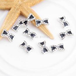 Wholesale Sticker Bows - Wholesale- High Quality 10pcs set 3D Nail Art sticker Rhinestone Bowknot bow Nail Art Glitters Decoration Manicure nail art Tips tools