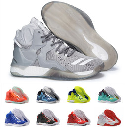 Wholesale Derrick Green - 2016 D Rose 7 Boost Basketball Shoes Men Boosts Hot Sale Derrick Rose shoes 6 7 VII Florist City White Boost Sports Sneakers Size 40-46