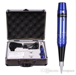 Wholesale Eyebrow Power Supply - Permanent makeup pen machine kit professional eyebrow tattoo machine power supply tatoo makeup equipment tool set