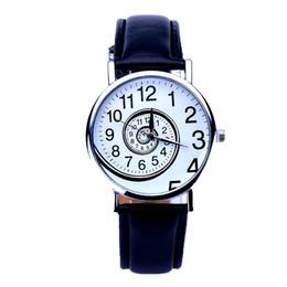 Wholesale Swirl Watch - Fashion Swirl Pattern Watches Women PU Leather Sports Clock Lady Analog Quartz Wrist Watch Relogio Feminino Reloj Wholesale #N