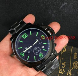 Wholesale Hour Glasses - 2017 Hot Montre, Popular New Men's Watch Luxury Brand Business Hour Faux Leather Mens Blue Ray Glass Quartz Analog Watches Luminous watch