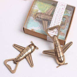 "Wholesale Antique Travel - Wedding Gifts Bridal Favors ""Let the Adventure Begin"" Airplane Bottle Opener plane Travel bottle opener Retro Antique"