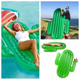 Wholesale Adult Outdoor Toys - 180X140x20cm Float Inflatable Cactus Pool Floats Large Outdoor Swimming Pool Raft Inflatable Pool Toy Float Lounge For Adults Kids YYA225