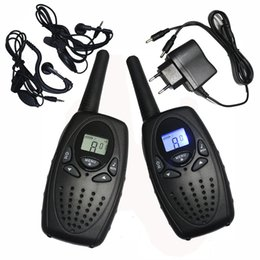 Wholesale Two Way Radio Charger - Wholesale- 2PC TS628 1w Portable Walkie Talkies interphone radios PMR two Way ham Radio Transceiver dual monitor w  earphones charger