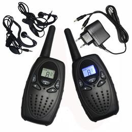 2019 forma de cargador de radio Al por mayor-2PC TS628 1w portátil Walkie Talkies radios interfono PMR dos vías jamón Radio Transceptor doble monitor w / auriculares cargador rebajas forma de cargador de radio