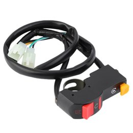 "Wholesale Universal Lighting Systems - New motorcycle Motorcross fog light switch 7 8"" handlebar ON OFF button On-off Headlamp Horn Switch 12v DC electrical system"