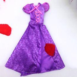 Wholesale Dolls Clothes Bjd - Doll Accessories Clothes For Barbie Doll Cosplay Costume Princess Rapunzel Purple Dresses For 1 6 BJD Dolls
