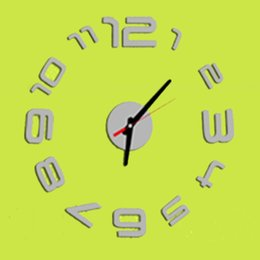 Wholesale Free Shipping 3d Home Decoration Diy Wall Clock Unique Small Number Stickers Self Adhesive Home Decor Modern Wall Clocks P20