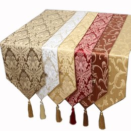 Wholesale Tea Table Cloths - New Jacquard High Quality Table Runner Cotton Linen Rectangle Dining Table Protective Pads Placemat Modern Simple Tea Table Cloth 200x33 cm