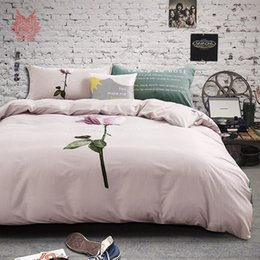 Wholesale Comforter Lotus - Pastoral style luxury lotus print bedding sets 100% Pure cotton breathable comforter cover set bed sheet type SP3935 FREE SHIP