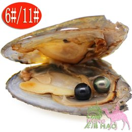 Wholesale Bead Jewelery - Free Shipping 2018 Fashion Gifts 30Pcs   Pack 6-7mm Bead Oysters with AAAA Round Jewelery in Birthday Gifts Wedding Oys