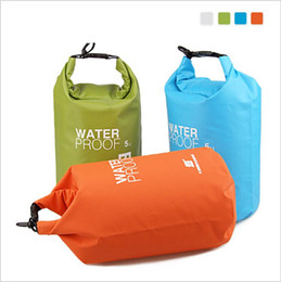 Wholesale Ultralight Kits - Travel Rafting Waterproof Dry Bag Swimming Travel Kits Orange White Green Blue 5L Ultralight Outdoor Camping