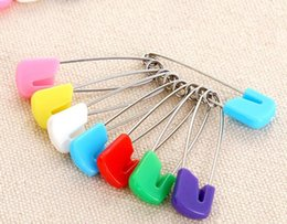 Wholesale Wholesale Cloth Diaper Safety Pins - Color safety pin Multi-purpose baby pins The baby safety pinBaby Dress Cloth Nappy Diaper Shower Craft Pins Game Kit Color 2000 pcs