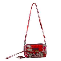 Wholesale Coffee One - VB Flower cotton RFID All in One Crossbody Bag Shoulder Bag Purse Satchel Messenger Handbag