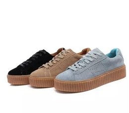 Wholesale Sneaker Sports Shoes Women S - .2016 NEW BASKET CREEPERS GLO RIHANNA SNEAKERS CASUAL WOMEN 'S SPORTS RUNNING JOGGING SHOES WOMENS FASHION CLASSIC SHOES 36-44