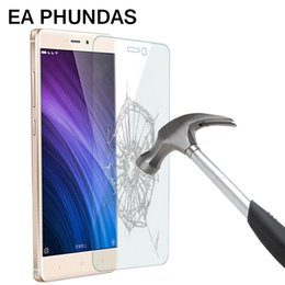 Wholesale Mi Glass - EA PHUNDAS Tempered glass for Xiaomi redmi 4 2.5D tempered glass screen protector anti-shatter for Redmi 4A anti Scratch glass for Redmi 4X