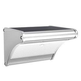 La nueva energía solar online-Luz solar LED con sensor de movimiento por radar de microondas Luces de la lámpara de energía solar para la pared del jardín exterior Iluminación más nueva