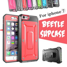 Wholesale Unicorn Beetle Series Iphone - Unicorn Beetle Supcase PRO Series Heavy Duty Rugged Cover Case For iPhone 8 7 Plus 6 6S Samsung S6 edge With Swiveling Belt Clip Holster