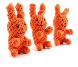 Wholesale Rabbits Puppies - Cute Pet Toy Animal Series Rabbit Shape Cotton Rope Toy Fashionable Interactive Toy For Puppy Chew