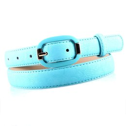 Wholesale Thin White Leather Belt - Wholesale- Korea Hot Sale leather belt pemehb Thin belts belt for women Female belt waist chain crony coat Waist sealing