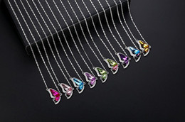 Wholesale Butterfly Wing Pendant Necklace - Hot sale Jewelry new fashion full diamond crystal butterfly wings necklace chain chain WFN075 (with chain) mix order 20 pieces a lot