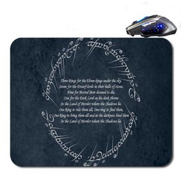 Wholesale Lord Ring Free Shipping - Lord Of The Rings Art Anti-Slip New Arrival Customized Mouse Pad Computer PC Nice Gaming Mousemat As Gift Free Shipping