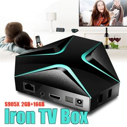 Wholesale Iron Like - Iron Man Like Android TV Box 2G Ram 16G Rom Internet OTT 4K H265 60fps Mediaplayer S905 Quad Core TV boxes