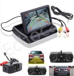"""Wholesale Monitor Rear View Reverse Sensors - Details about Car Reverse Parking Camera With Radar Sensor&4.3"""" Foldable LCD Rear View Monitor"""