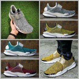 Wholesale Air Stones - 2017 Sock Dart QS Safari Pack Running Shoes Mens Fragment Design Air Presto Stone Pattern Spots Shoes Training Sneakers US 5.5-10