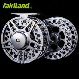 Wholesale aluminum fly reels - Fly fishing reel combo 90mm 5 6 w  premier extra spool 3BB full metal ice fishing wheel CNC aluminum L R hand changeable