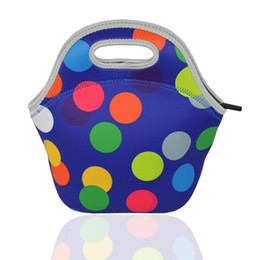 Wholesale Children Picnic Bag - Child Lunch Package Thicker Insulation Bag Waterproof Eco Friendly Stripe Dot Colour Picnic Pouch Waterproof Large Capacity 15 5wt I1