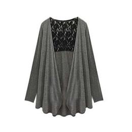 Wholesale Womens Plus Size Cardigan - Wholesale- Casual Long Sleeve Lace Cardigan Womens Autumn Plus Size Coat Women Tops Female Cardigan Pull Femme Au19